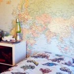 Wallpapered_worldmap_boysroom